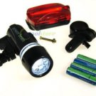5 LED Warning Headlight Bike Bicycle Accessory Torch