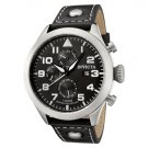 Invicta Men's Invicta II Black Dial Black Calf Leather Watch