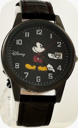 "Men's ""Black Mickey Mouse Watch"