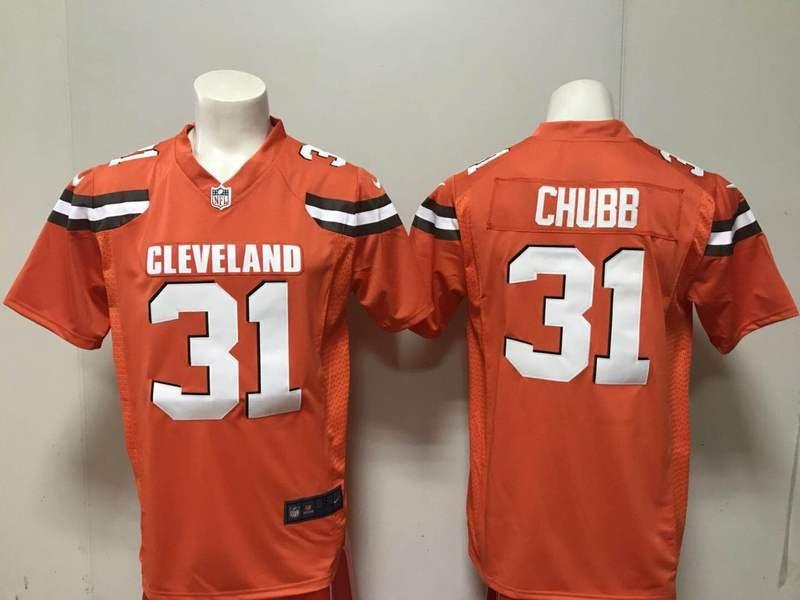Nick Chubb Cleveland Browns Men s Limited Game Jersey Orange 4260d4b7b