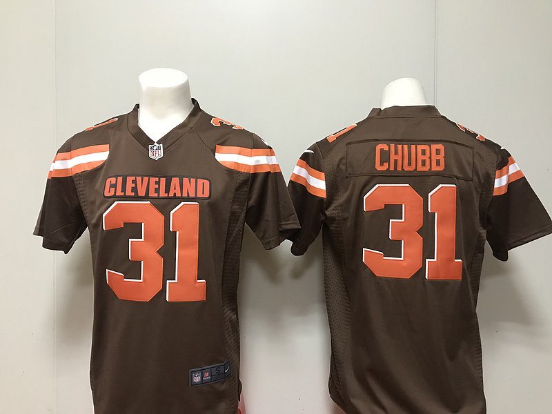 Cleveland Browns Nick Chubb Men s Limited Game Jersey Brown d5316e3c4