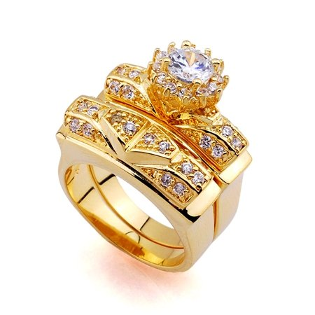 4.38ZIRCON SOLID 24K GILD GORGEOUS RING UNIQUE VERY GOOD QUALITY 100% SURETY SATISFACTION AAAAA