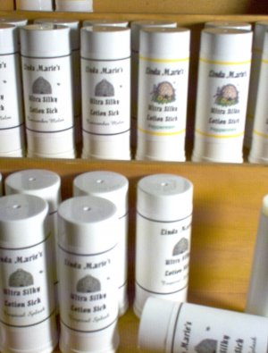 Handmade Lotion Stick  Peppermint with Emu Oil Shea Butter by The Village Craftsmith