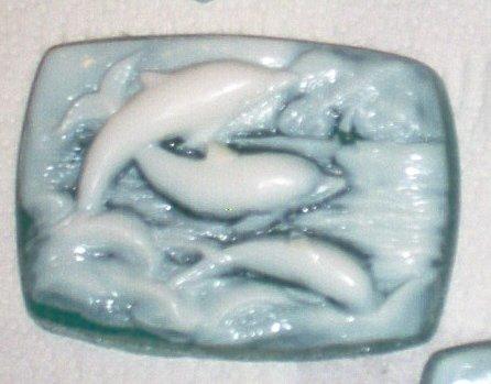 Handmade Cucumber Melon Glycerin Soap Flying Dolphins 4 ou Bath Bar MP by The Village Craftsmith