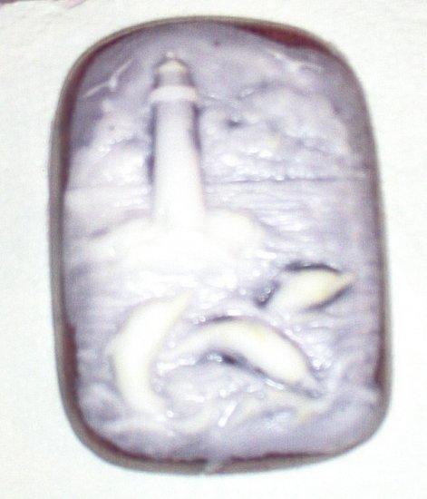 Handmade Lilac Glycerin MP Soap Lighthouse 4ou Bath Bar by The Village Craftsmith