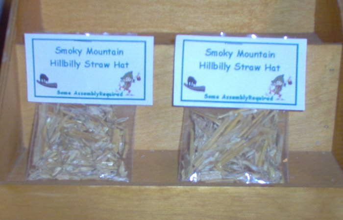 Smoky Mountain Hillbilly Straw Hat Gag Gift by The Village Craftsmith