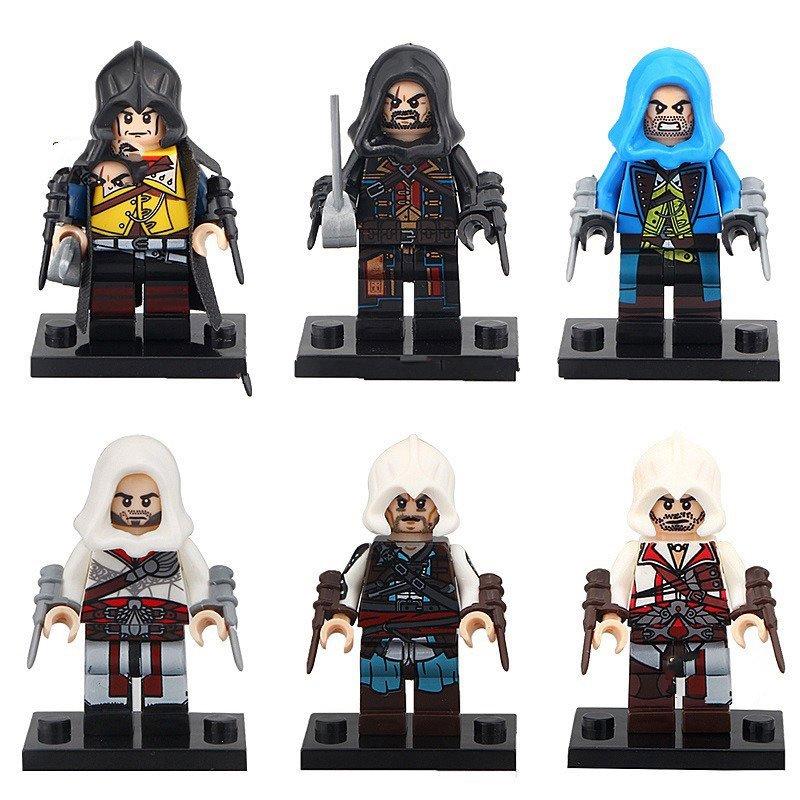 6pcs Kenway Firenze Dorian Cormac Lego Toys Assassins Creed 2