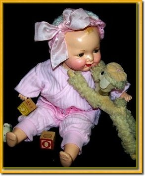 Vintage Baby Bright Antique Doll by Madame Hendren