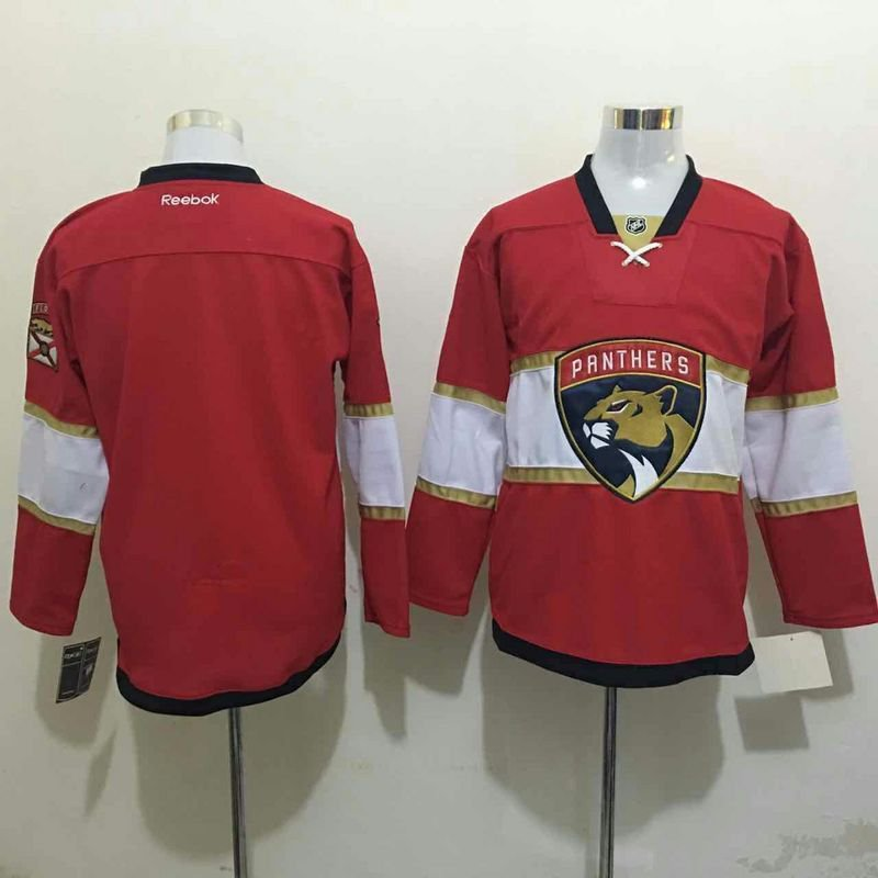 b138d9f72 Mens Florida Panthers Blank Red Ice Hockey Jersey M-3XL