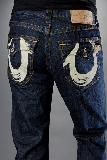 Men's 'Billy' Natural Painted Pocket Basic Denim - Body Rinse