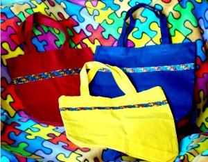Autism Awareness Totes