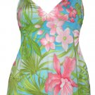 Tropical Temptation Vibrant Floral Babydoll Cami Top - Small