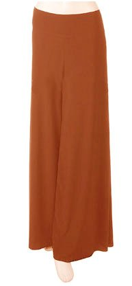 Rust Gaucho Wide Leg Long Kimono Palazzo Pants - Large