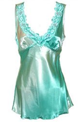 Sexy Tempting Teal Champagne Lace Sequins Satin Top - Small