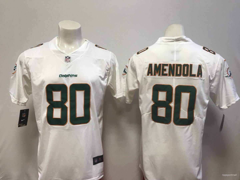 new arrivals e9913 04a7d Miami Dolphins 80 Danny Amendola Football Jerseys