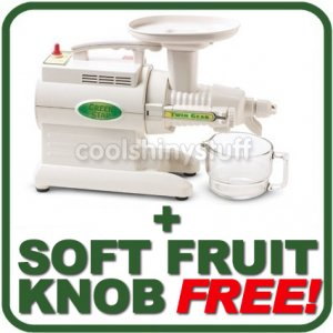 NEW Green Star GS-2000 Juicer GS2000 Juice Extractor + FREE Soft Fruit Knob