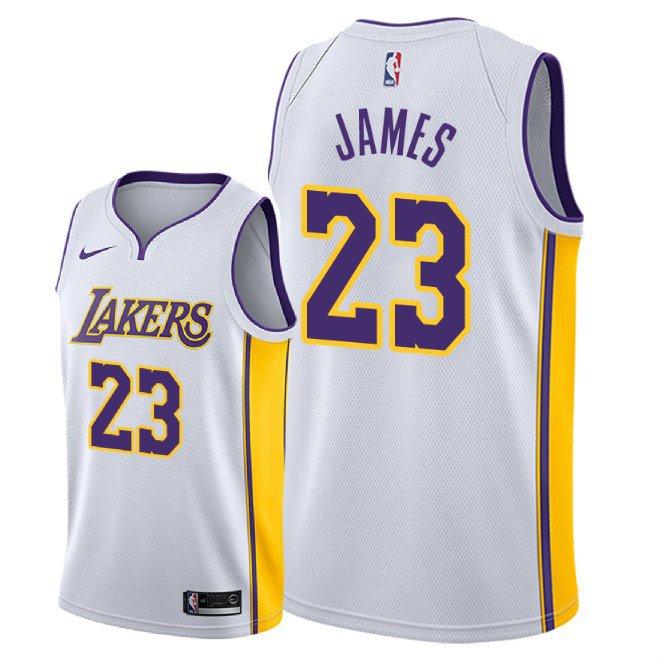 bafc82093d3 Men s Los Angeles Lakers LeBron James Association Jersey - White