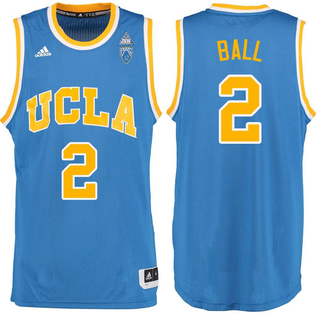 203e1a91f33 Men's Lonzo Ball UCLA NCAA Jersey - Blue