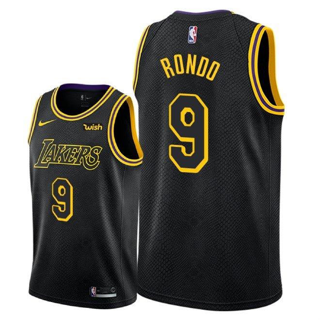 quality design bc899 d774a Men's Los Angeles Lakers Rajon Rondo City Edition Jersey - Black