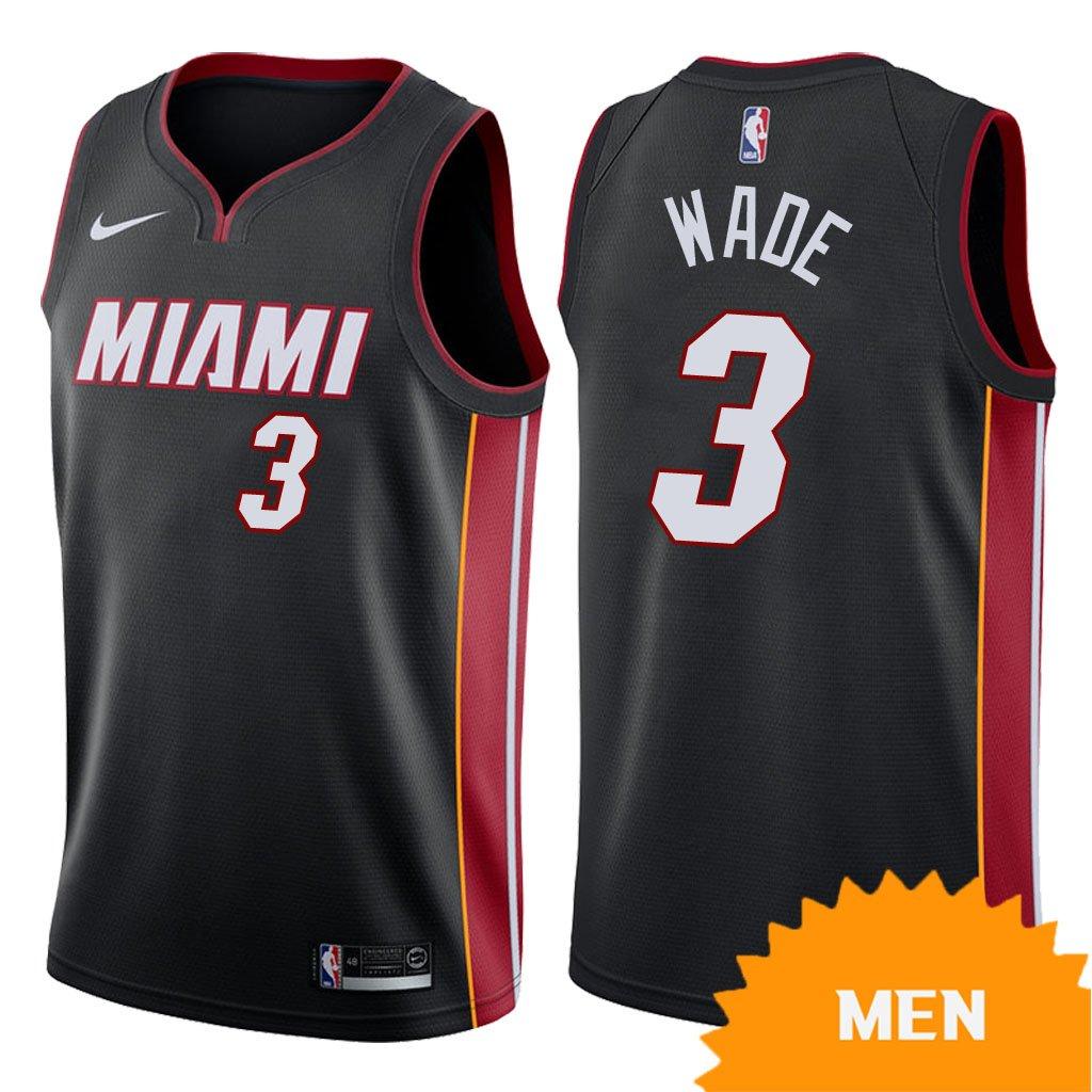 d1dc107f6 Men s Miami Heat Dwyane Wade Icon Edition Jersey - Black