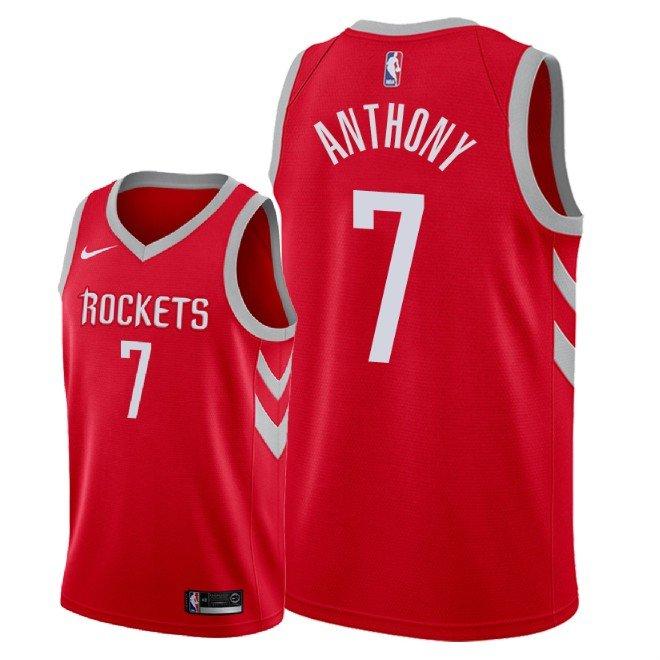 98875e121 Men s Houston Rockets Carmelo Anthony Icon Jersey - Red