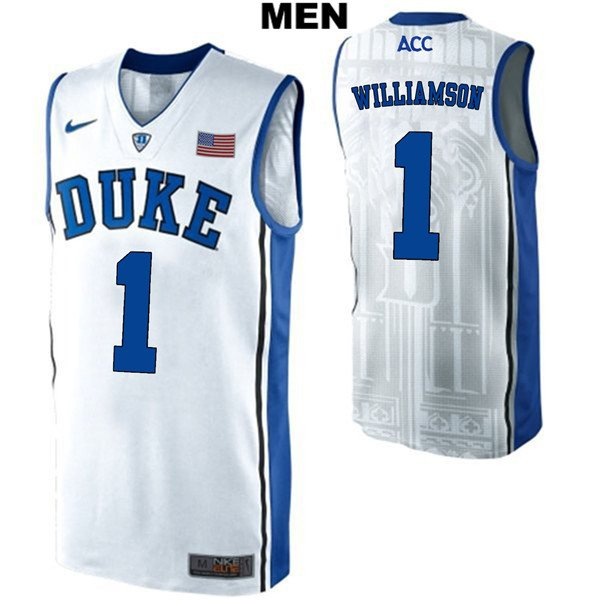 b4f2a21c51e3 Men s Zion Williamson Duke Blue Devils White College Basketball Jersey