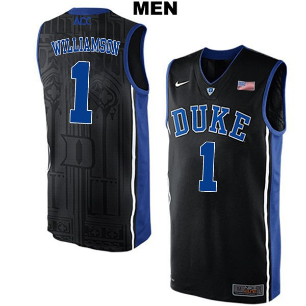0eaa973a71a5 Men s Zion Williamson Duke Blue Devils Black College Basketball Jersey