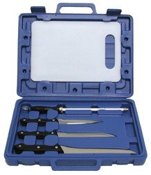 Fishing Knife Set with Fillet Knives,Board & Steel Blue Case