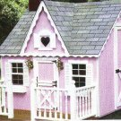 CHILDS VICTORIAN PLAY HOUSE -6FT X8FT-PORCH 3FT X8FT