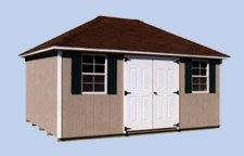 8FT X 12FT DURA TEMP HIP ROOF STORAGE SHED