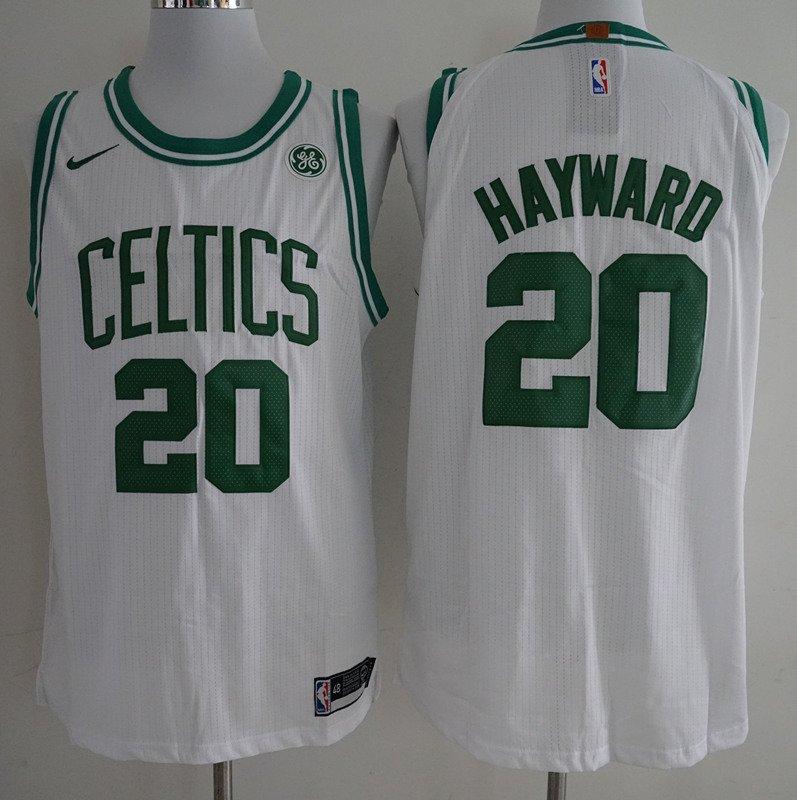 Men s Celtics 20 Gordon Hayward jersey white 3b2d77ad2030