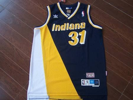 535ed7724da8 Mens pacers 31 Reggie Miller throwback jersey