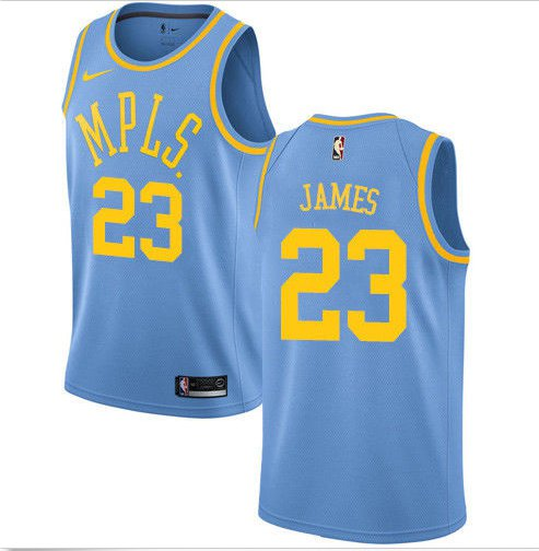 outlet store ef612 886fa Lebron James #23 Lakers MPLS Original Minneapolis Blue Jersey