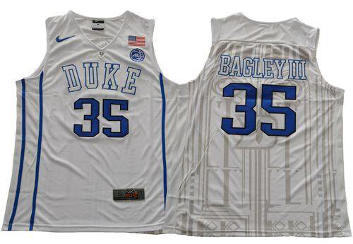c4136ee32f4 MEN S Marvin Bagley III Duke Blue Devils college Jersey White