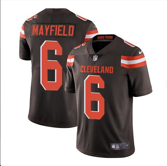 21f6f2bef Mens Cleveland Browns  6 Baker Mayfield color rush Jersey brown