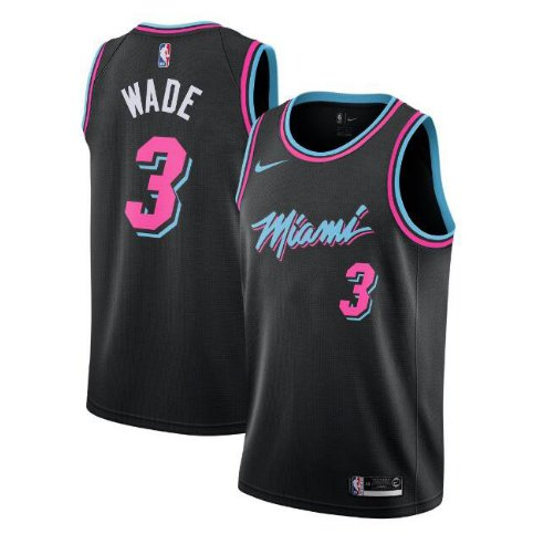 super popular 4e253 0ddb0 Men's Miami Heat #3 Dwyane Wade City Edition Jersey black