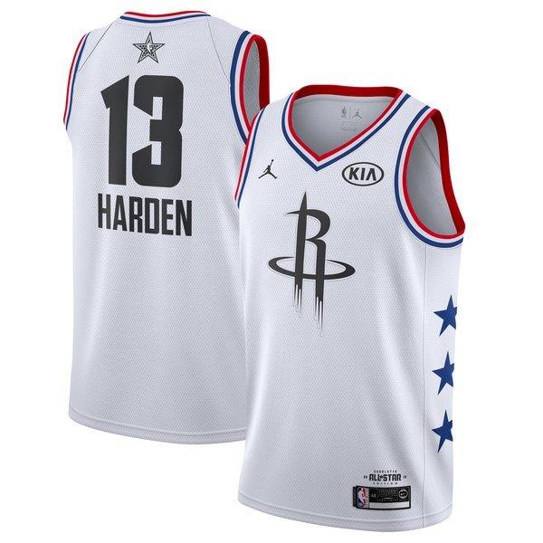 e4707534d Men s Rockets  13 james harden 2019 all star jersey white