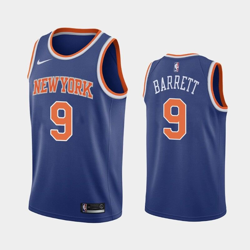 brand new 3e6c1 5478c Youth boys R.J. Barrett New York Knicks #9 JERSEY blue