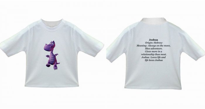 Personalised Toddler Name Meaning T-Shirt - Free Shipping