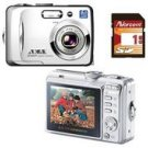 Akai DC7370 7.16 MP 3x Zoom 2.5 LCD Digital Camera and 1GB SD Card