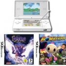 Nintendo DS Lite (Polar White) Bundle with 2 Hot Games
