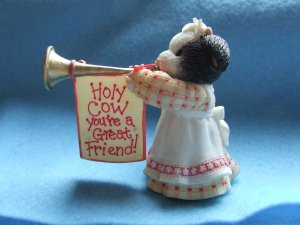 Mary's MooMoos  Cow figurine  $6.70 shipping included