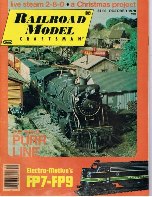 "Railroad Publication. ""Railroad Model Craftsman October 1978 $3.75 shipping included"