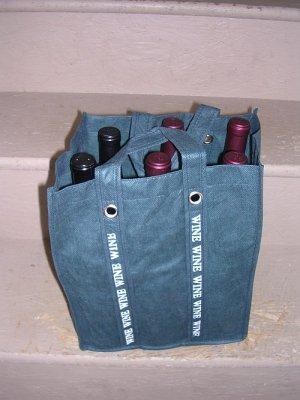 6 Bottle Fabric Wine Tote