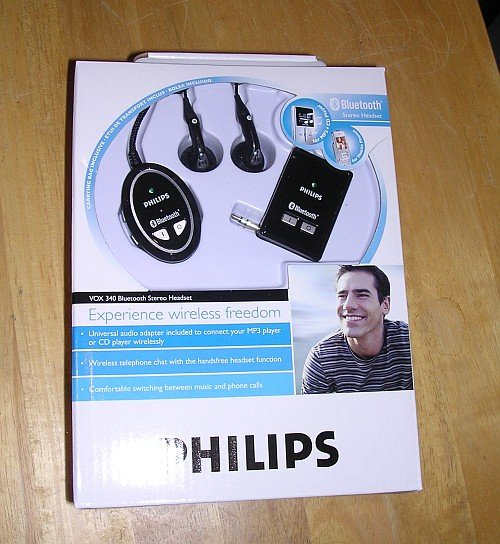 Philips Bluetooth MP3/Cell Phone Headset VOX340/17