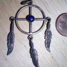 Native American style sun wheel pendant