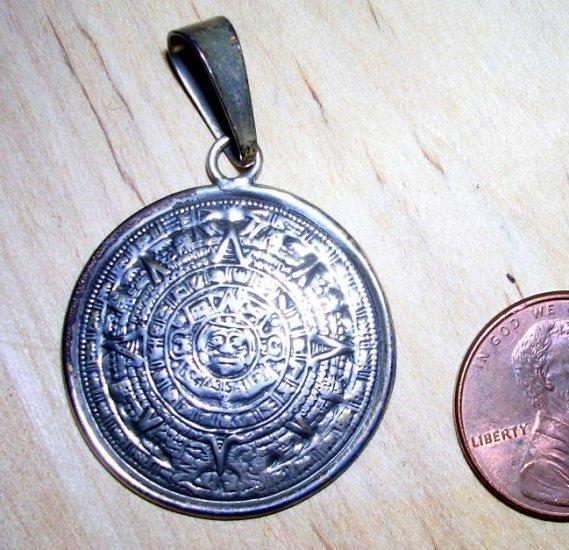 Mayan Calendar Disk Pendant