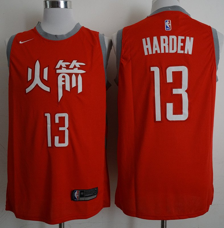 promo code 94446 762f9 Mens Houston Rockets #13 James Harden Black Basketball Chinese Jersey