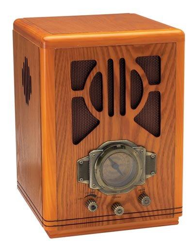 SALE: HHVRTOMB/00: SALE-Kassel Vintage-Style Tombstone Radio