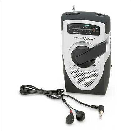 ELCRANK/00: Emergency Crank Radio - Crank or Use Batteries